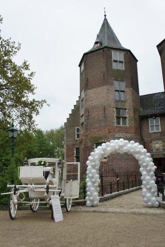 Ballonnenboog Big zilver wit