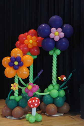 Ballonnenpilaar flower klein middel en groot