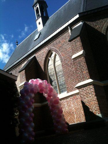 Ballonnenboog Big roze met wit