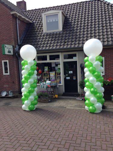 Ballonnenpilaar big groen wit